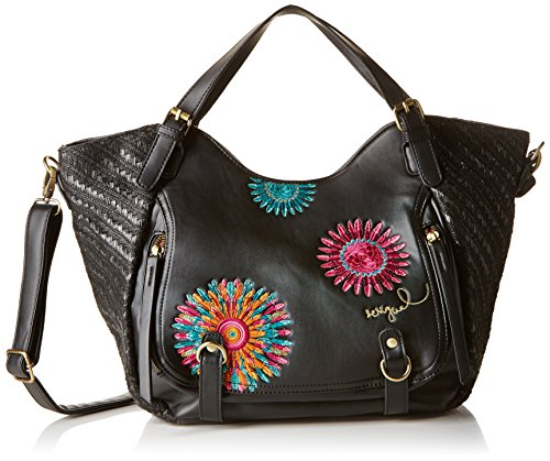 Desigual Women's Rotterdam Far West Cross-Body Bag Black Noir (Negro) One Size
