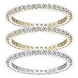 Swarovski Damen-Stapelring Edelstahl Kristall Transparent Rundschliff 5184655