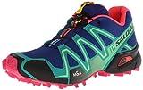 Salomon L37130300, Damen Traillaufschuhe, (g Blue/Emerald Green/hot pink) - Größe: 37 1/3 EU