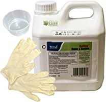Elixir Gardens Gallup Home & Garden Glyphosate Commercial Strength Weed killer treats upto 3332 sq/m 2Lt Bottle + Complimentary Measuring Cup and Gloves by Prime