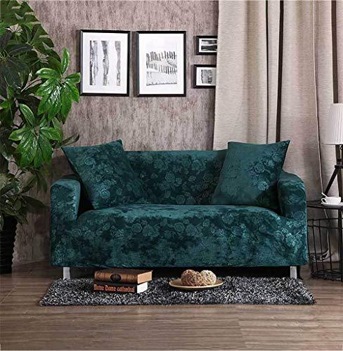 TSSCY Sofa Überwurf Anti-rutsch Couch-Decken Stretch hussen Sofa wirft Stuhl beschützer Möbel Sessel Loveseat Sofa wirft -Grün 1 Sitzer/Stuhl