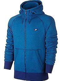 Nike AW77 Shoebox Full-Zip Men s Hoodie Royal Blue Heather 727395-455 d4b11782d2