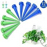 LATERN 12Pcs Spike automático de riego de Plantas, Sistema de riego por Goteo para el jardín, hogar, Interior, Exterior (Incluye 2 Clavijas)