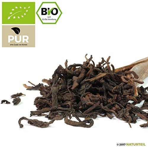 100 g China Pu Erh Tee Bio – Puerh – im aromadichten & wiederverschließbaren Beutel – Natürlich Tee by Naturteil