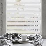 fancy-fix Fensterschutzfolie, 90cm x 200cm, zur Dekoration und Sichtschutz für Büro, selbstklebend