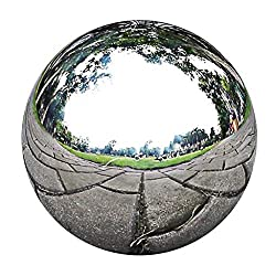 B Blesiya Polierte Hohlkugel aus hochwertigem Edelstahl Deko Kugel Silber, Hochglanz