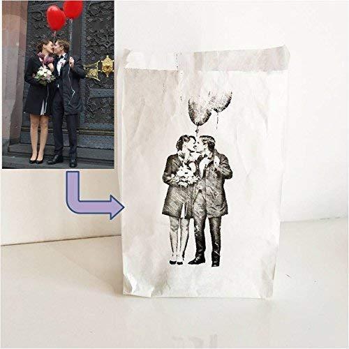 individuelle Hochzeitsdeko/persönliches Gastgeschenk/personalisiertes Geschenk: Euer Foto als Windlicht. Passend zu vielen Anlässen wie Hochzeit, Taufe, Geburt, Weihnachtsgeschenk