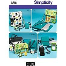 Simplicity 4391 - Patrones de costura para bolsos y fundas (talla única)
