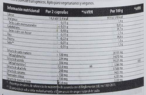 SanaExpert LeberVital Pro, Suplemento Nutricional para el Hígado y los Riñones, Capsulas Depurativas con Extracto de Cardo Mariano, Alcachofa, Cúrcuma, Raíz de Diente de León, 120 Cápsulas