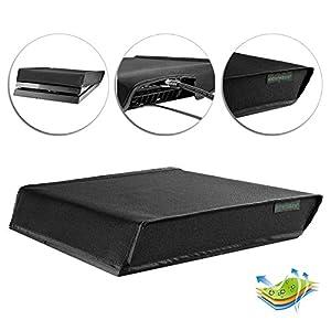 eXtremeRate PS4 Spritzwasserdicht Tasche Nylon Cover Staubschutz Sleeve Hülle Abdeckung für narmale Playstation 4 Dualshock 4 PS4 Console(Schwarz)