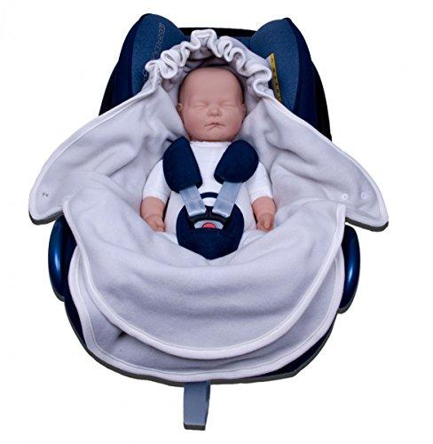 Popolini Baumwollvliessack für Autositz Ecru Car Seat Pouch GOTS Car Seat Cover - Babyschalen Cover Abdeckung Decke