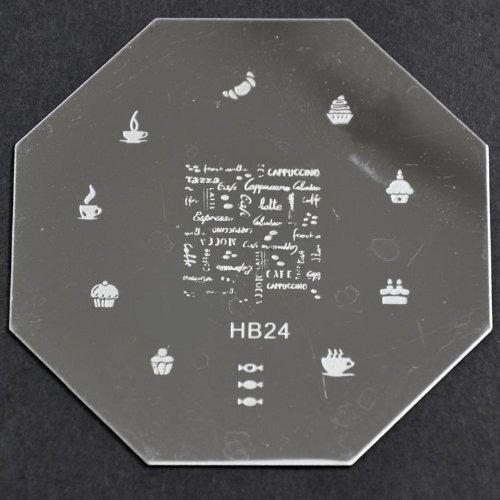 Nail Art emboutissage des tôles - HB24 CODE : HB24-plaque
