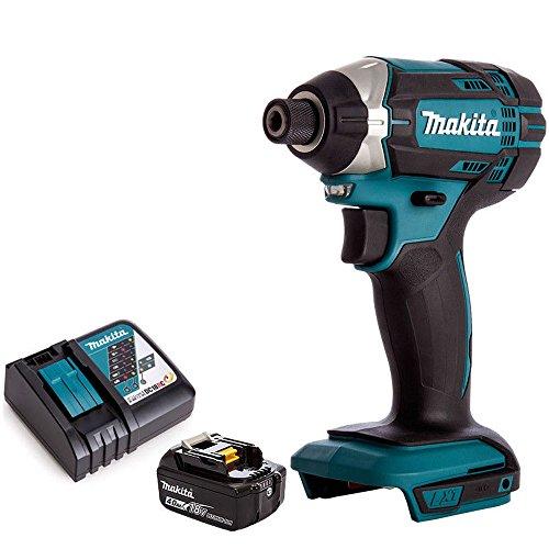 Makita DTD152Z - Destornillador de impacto inalámbrico LXT de 18 V con 1 batería de 4,0 Ah y cargador...