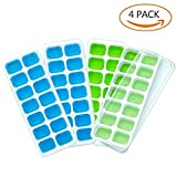 Best Ice Cube Trays With Covers - Ice Cube Moulds, Dully Easy Realease Silicone Ice Review