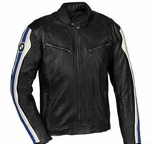 BMW Stil Schwarz Motorrad Leder Jacke Motorrad Racing Bike Leder Jacke
