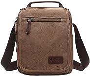 Mygreen Men's Multifunctional Canvas Shoulder Bag Handbag Multi-Pockets Business Messenger Bags Outdoor Sp