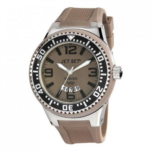 Jet Set J54443-060 - Reloj para hombres, correa de resina color marrón