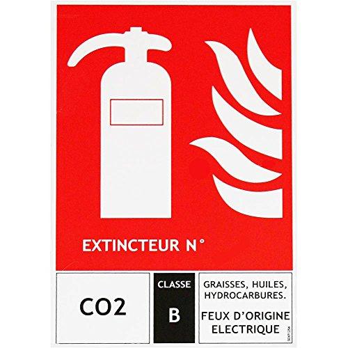 Panneau pictogramme extincteur CO2 125 X 190
