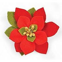 Sizzix Builda Bloom Poinsettia di Pete Hughes Bigz, Fustella in plastica ABS, Multicolore