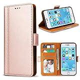 Bozon iPhone 6S Hülle, iPhone 6 Hülle, Leder Tasche Handyhülle für iPhone 6/ 6S Schutzhülle Flip Wallet mit Ständer und Kartenfächer/Magnetverschluss (Rose Gold)