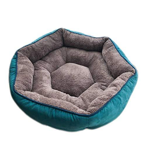 Wildleder Hundebett Small Medium Halten Warme Katzenbett Sofa Couch Pet Bed Runde Sleeper Plüsch Matratze Pet Produkte für Französisch Bulldog Teddy - Sofa Couch Sleeper