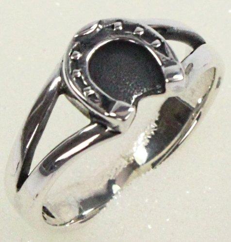 Ring mit Hufeisen - Ringgröße 58 - 925er Silber - Original RIESER® Jewelry (Sattel Cowgirl)