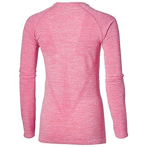 Asics Damen Seamless T-Shirt, Rosa,