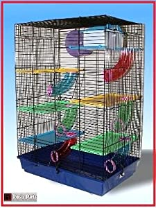 Toby De-Luxe 6 platforms and tubes hamster cage