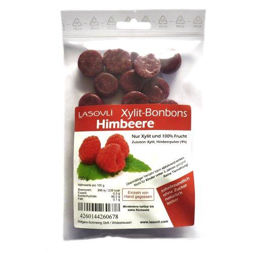 """Xylit-Bonbons """"Himbeere"""" ohne Zuckerzusatz, nur mit Xylit gesüßt, 100% Fruchtpulver, 130 g"""