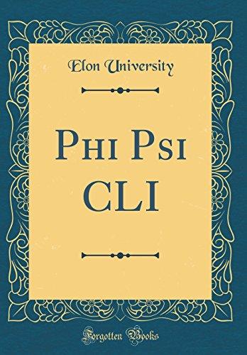 Phi Psi CLI (Classic Reprint)