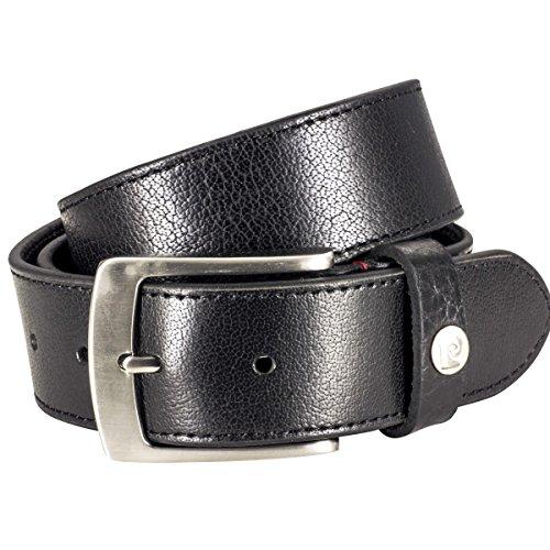 Ledergürtel Herren / Gürtel Herren Pierre Cardin, Vollbüffel-Leder schwarz, 70161, Größe / Size:95, Farbe / Color:schwarz
