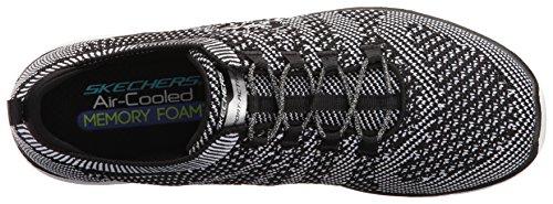 Skechers Damen Galaxies Sneakers Schwarz (Bkw)