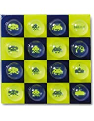 Dakine - Almohadilla de burbujas multicolor Invaders Talla:talla única