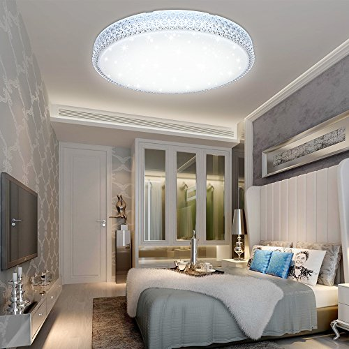 VGO® 50W LED Kristall Deckenleuchte Kaltweiß Starlight Deckenbeleuchtung Wohnzimmer Sternenhimmel Deckenlampe Korridor Schlafzimmer Schönes Mordern Badleuchte