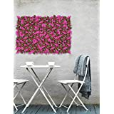 Story @ Home Plastic Artificial Gardening Mats Fern Wall Panels Eucalyptus Boxwood Tiles (40 Cm X 60 Cm X 1 Cm, Magenta And Pink)