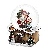 Dekohelden24 Schneekugel mit Weihnachtsmann, Maße L/B / H: 7 x 7 x 9 cm Kugel Ø 6,5 cm.
