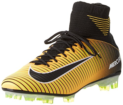 Nike Herren Mercurial Veloce III DF FG 831961 801 Fußballschuhe, Orange (Laser Orange/Black/White/Volt), 43 EU