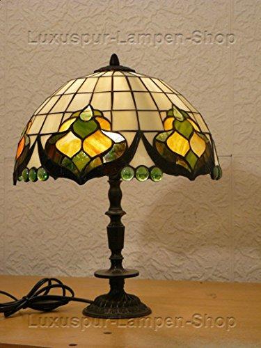 Tischlampe 'Rokoko' im Tiffany Stil Durchmesser 30 cm