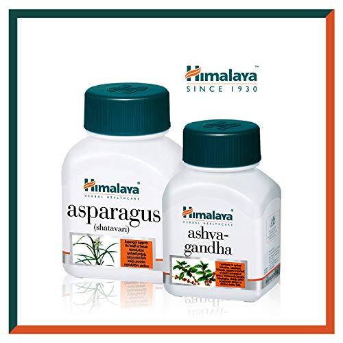 Himalaya Ashwagandha + Asparagus (Shatavari) für das Wohlbefinden der Frau | Hilft bei prämenopausalen Symptomen | Ideal für das hormonelle Gleichgewicht | 60 Tabletten (Women's Wellness)