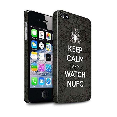 Officiel Newcastle United FC Coque / Clipser Brillant Etui pour Apple iPhone 4/4S / Pack 7pcs Design / NUFC Keep Calm Collection Regarder NUFC