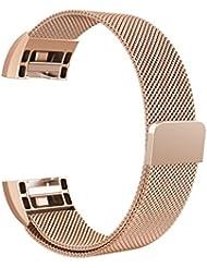 "Fitbit Charge 2 Armband, Swees Milanese Edelstahl Replacement Wrist Band Strap Watchband Uhrband Uhrenarmband mit Magnet-Verschluss und Metallschließe für Fitbit Charge 2 Smartwatch Small & Large (5.5""9.9"")"