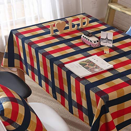 XHHWZB Tischdecke Rechteck Nordischen Stil Landhaus Stil Haus Plaid Tischdecken, Geeignet Für Das...