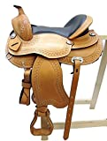 Baumloser Westernsattel OMAHA ECO aus Büffelleder, NEU, Größe:16 Zoll
