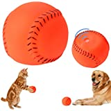 Rrimin Pet Dog Sound Toy Dog Squeakers Squeaky Toy Dog Chew Ball Play Toy(Baseball)