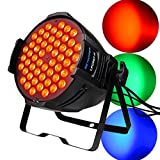 BETOPPER (LPC007-H) Stage light 54 * 3W RGBW 3 in 1 DJ PAR Light DMX512 / Auto / Sound Activated / Master-slave 3/7 Channel Supper luminoso LED music light professionale per DJ Bar Karaoke Show Party Wedding Dance Disco Concert.