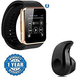 Captcha Smart Watch GT08 Phone With Camera, Sim Card & SD Card Support With S530 Mini Bluetooth Headset