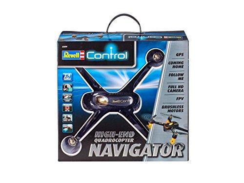 Revell Control RC GPS Quadrocopter mit FPV Full HD-Kamera, ferngesteuert mit GHz Fernsteuerung mit Display für Live-Stream & Telemetrie, bis zu 20 Min Flugzeit, Follow-me, Coming-home, NAVIGATOR 23899 - 6