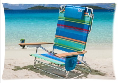 Elegant Comfort Luxurious Silky Soft Beach Chair Zippered Pillow Case 20x30 inch (one side)