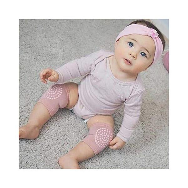 5 pares de rodilleras para bebé, multicolor, antideslizantes, ajustables y elásticas, para bebés de 0 a 24 meses 5