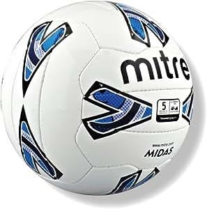Mitre Midas Training Football - White Blue, Size 5